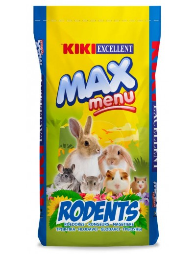 Kiki max menu rodents chinchilla conejo enano hamster cobaya