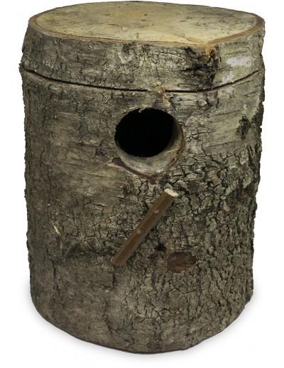 nido periquito tronco natural