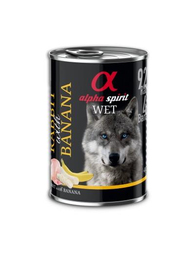 comida humeda lata ALPHA SPIRIT Conejo & Plátano para perros