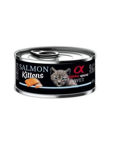 comida húmeda lata ALPHA SPIRIT Salmón para gatitos (kittens)