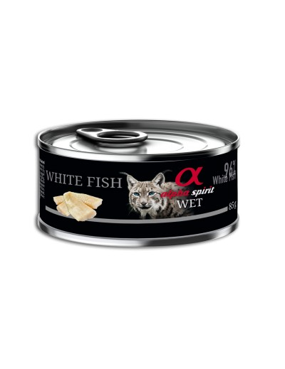comida húmeda lata ALPHA SPIRIT Pescado blanco para gatos