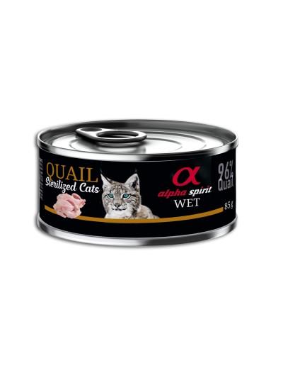 ALPHA SPIRIT Codorniz para Gatos esterilizados