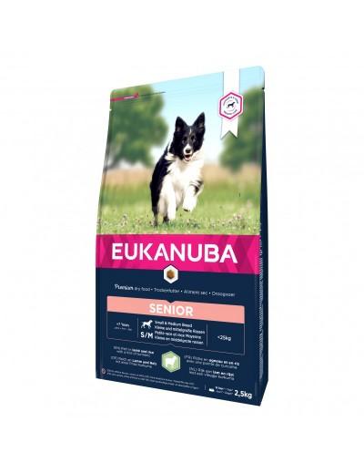 eukanuba senior razas pequñas cordero y arroz para perros