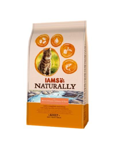 IAMS Naturally gato adulto rico en Salmón del norte y arroz