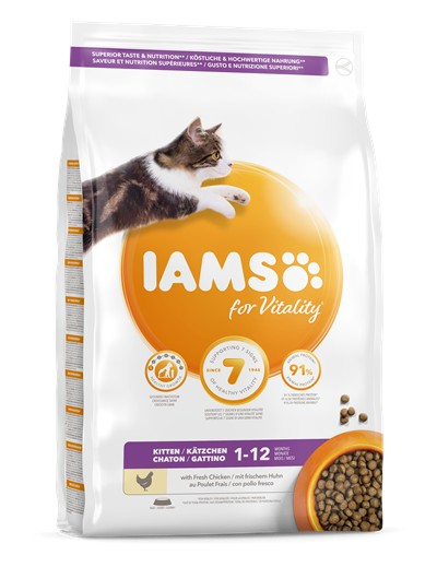 IAMS for Vitality Alimento para Gatitos con pollo fresco