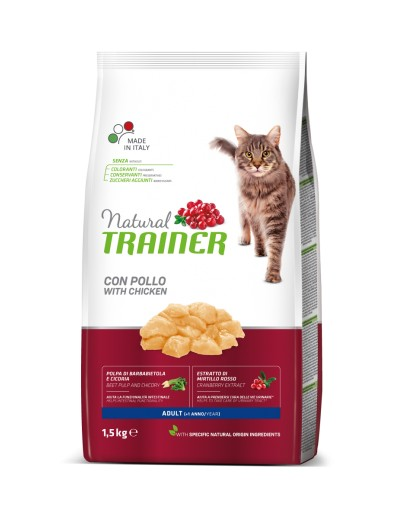 natural trainer Adult con Pollo para gatos