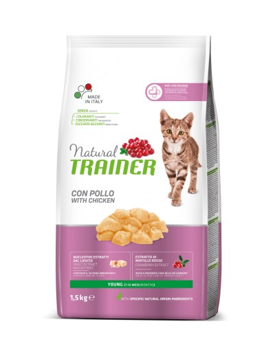 natural trainer Young con pollo para gatos