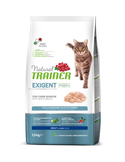 natural trainer Exigent Adult con Carnes Blancas para gatos