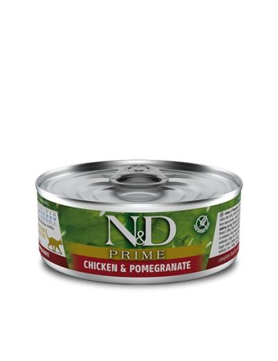 farmina lata POLLO & GRANADA para gatos 80 gr