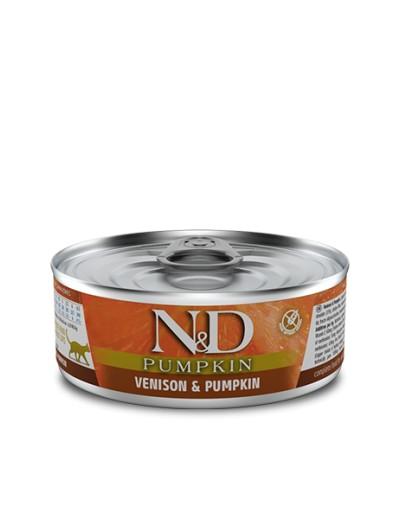 farmina lata VENADO & CALABAZA para gatos 80 gr